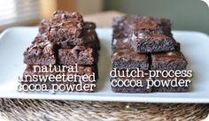 Cocoa Powder 101 - natural unsweetened vs dutch-process