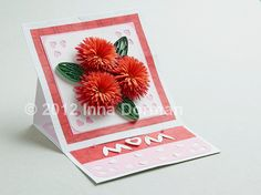 Mother's Day / Birthday floral greeting card (original design). Quilling / paper filigree. $10.00, via Etsy.