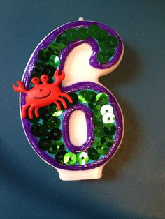 Little Mermaid Birthday Candle by TheCraftyPair on Etsy, $10.00
