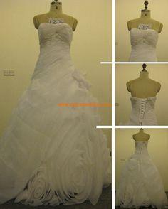 Robe de mariée courture originale organza appliqué