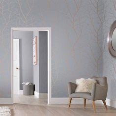 Boreas Soft Grey Wallpaper | Grey Wallpaper | Graham & Brown