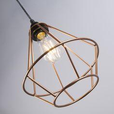 Lámpara colgante FRAME Luxe B cobre #interiorismo #decoracion #luz