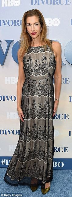 Lovely in lace!Molly Shannon and Alysia Reiner were on the same page with sheer fabrics...