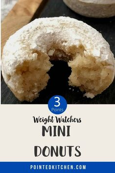 These mini vanilla doughnuts are must 3 SmartPoints per piece on Weight Watchers Blue, Green, Purple