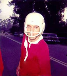 Elvis after a football game in Memphis , early summer 1960.