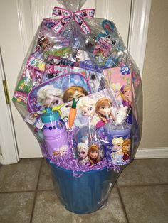 Frozen Filled Easter Basket BIG by GingerellasBows on Etsy Filled Easter Baskets, Baby Car Seats, Daddy, Frozen, Big, Children, Room, Crafts, Etsy