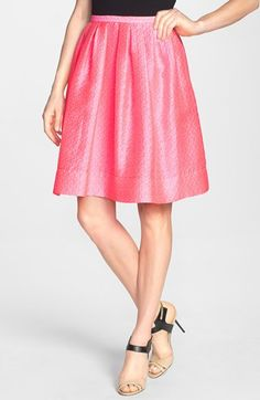 Pink Tartan 'Grace' Pleat Flared Skirt available at #Nordstrom