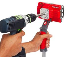 Quadsaw Square Hole Cutter -- Quadsaw can cut a perfectly square hole in drywall/plasterboard in under ten seconds. The tool mounts to any drill that produces 1800rpms and it features 4 blades that buzz through the wall with precision & minimal dust. It is adjustable to also cut rectangular holes as well as adjustable depths.