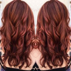 Copper red hair by Hayley crisp