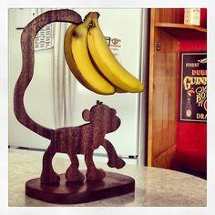 Monkey Banana Holder : woodworking