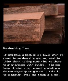 Learn woodworking for beginners at http://walkerwoodesign.net