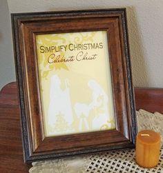 Simplify Christmas~Printable!
