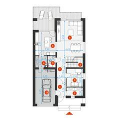 Dostępny 4A - DOMY Z WIZJĄ New House Plans, Dream House Plans, The Plan, How To Plan, House Design Pictures, Home Renovation, Planer, New Homes, Floor Plans