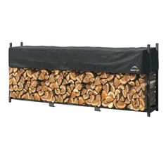ShelterLogic Ultra-Duty Firewood Rack-in-a-Box Wood Storage with Premium Steel Frame and Adjustable Water-Resistant Cover Outdoor Storage Sheds, Shed Storage, Storage Rack, Storage Ideas, Firewood Holder, Firewood Storage, Log Holder, Steel Frame Construction, Linen Closet Organization