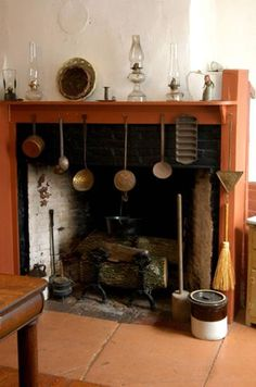 colonial fireplace with cooking tool colonial life early america