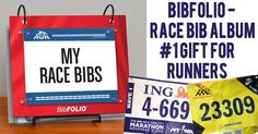 The original BibFOLIO race bib album exclusively from GoneForaRun.com