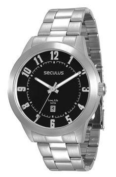 86f568535a2 Na Relógios de Fábrica você encontra o Relógio Seculus Masculino Long Life  28692G0SVNA1 com o melhor