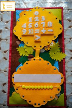 Развивающее панно - quiet book - maths Infant Activities, Preschool Activities, Activities For Kids, Crafts For Kids, My Busy Books, Montessori, Baby Quiet Book, Sensory Book, Quiet Book Patterns