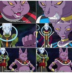 Oh the gods- Champa, Beerus, Vados and Whis