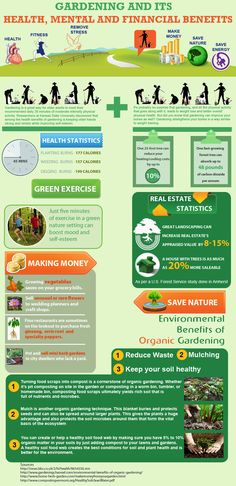 An infographic on the benefits of gardening