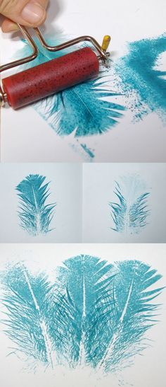 Make Unique Feather Images By Stamping or Printing Them 2019 How to Stamp or Print with a Feather easy technique for creating feather prints The post Make Unique Feather Images By Stamping or Printing Them 2019 appeared first on Scrapbook Diy. Feather Crafts, Feather Art, Art Activities For Kids, Art For Kids, Stamp Printing, Printing On Fabric, Feather Stitch, Toddler Art, Simple Prints