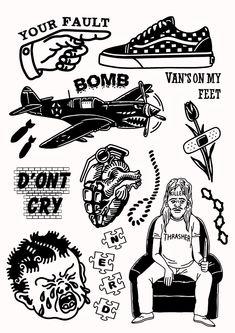- Old School Flash Art Tattoos, Body Art Tattoos, New Tattoos, Hand Tattoos, Small Tattoos, Sleeve Tattoos, Tattoos For Guys, Life Tattoos, Tattoo Sketches