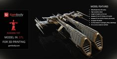 Eve Rifter 3D Model for Printing    Assembly figure - Space Ships for 3D Model for printing #eveonline #3dprintings