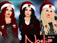 Free Noelia Hair Gift The Noelia hair is a group gift. Also popular, the midnight mania board and the lucky letters in this store. Group: Free to..