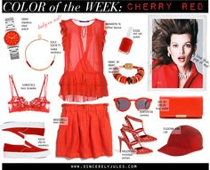 Color of the Week: CHERRY RED.
