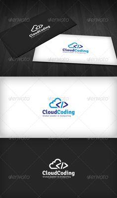 Cloud Coding Logo  #GraphicRiver