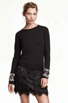 Camisola com lantejoulas | H&M