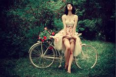 pin-up, retro, bike, bicycle