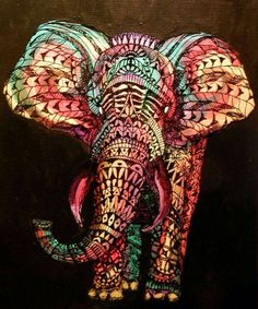 Elephant tribal line art @ Sonya Jorgensen. This would be perfect art in your bedroom :) Elephant Love, Elephant Art, Colorful Elephant, Elephant Shower, Elephant Colour, Elephant Drawings, Elephant Paintings, Mandala Elephant, Elephant Illustration