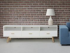 White chest of drawers LIBERTY Beliani Low chest of drawers in Scandinavian style. It fits both in the bedroom and in the classic living room. Classic Living Room, Living Room White, Living Room Windows, Living Room Tv, White Rooms, Small Living Rooms, Diy Living Room Decor, Living Room Furniture, Home Furniture