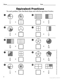 math worksheet : 1000 images about fractions decimals on pinterest  fractions  : Equal Fractions Worksheets