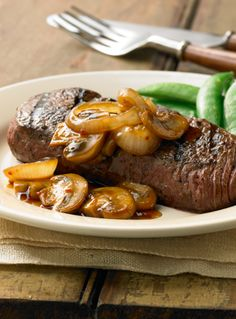 Grilled Steak with Teriyaki Mushrooms… This easy, grilling recipe will please little picky eaters yet still has the flavor and taste to win over the grown ups too! Grill this 30-minute meal for dinner and eat the leftovers for lunch.