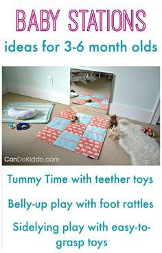 Baby play activities for keeping baby busy and promoting healthy baby development. CanDo Kiddo