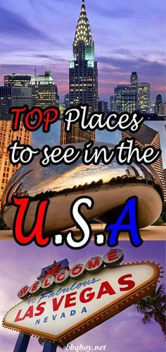 From East to West, the Top Places to Go in the USA including cities and natural attractions. This detailed guide covers things to do, tours, hotel recommendations as well as some general tips and recommendations #bbqboy #travel #guide #USA