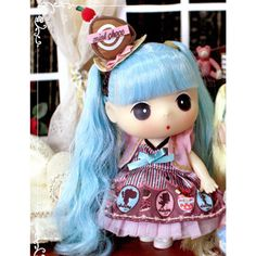 Korea Brand Ddung Cute Lovely Kawaii Baby Doll 7in Choco mint #Ddung #DollswithClothingAccessories