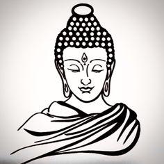 Siddharta Gautama Buddha Drawing, Buddha Painting, Dot Art Painting, Buddha Art, Stone Painting, Buddha Tattoo Design, Buddha Tattoos, Butterfly Sketch, Thai Art
