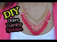Pearl Necklaces, Pearl Ring, Pearl Earrings : Pearl Jewelry: DIY Ombre Teardrop Necklace ft. @hisandhers_fashio... Pearl Jewelry, Diy Jewelry, Jewelry Necklaces, Jewelry Making, Jewelry Ideas, Diy Necklace, Crochet Necklace, Pendant Necklace, Pearl Necklace