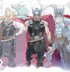 THOR: The Arrogant Past, The Honorable Present, and the Dark Future (Art by Esad Ribic, for Thor: The God of Thunder #1)