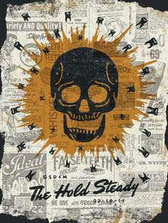 The hold steady #collage #music #poster
