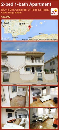 2-bed 1-bath Apartment in Nº 14 Urb. Camposol C/ Talco La Regia, Cabo Roig, Spain ►€89,000 #PropertyForSaleInSpain