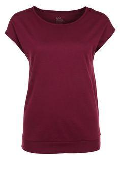 Even&Odd active T-Shirt basic - bordeaux - Zalando.de