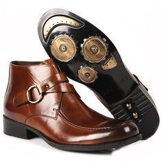 Fulinken Men's Two-tone Leather Formal Dress Shoes Oxford Boots Classic Mens Shoes * For more information, visit image link. Ankle Boots Dress, Leather Dress Shoes, Leather Dresses, Dress With Boots, Black Ankle Boots, Hot Shoes, Men's Shoes, Shoe Boots, Biker Shoes