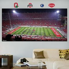 NCAA Ohio State Buckeyes Ohio Stadium Wall Graphic, Model: 17-00024, Sport & Outdoor. Dazzle fans and friends with a hi-def, 3-D image of your favorite team on your wall. Thick high-grade vinyl resists tears, rips and fading. Peel and place to any smooth, flat surface. No loss of adhesion and no damage to your walls.