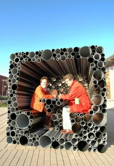A pavilion made out of PVC pipes? Interesting...