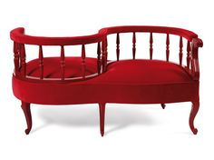 Upholstered fabric bench YES NO MAY BE SO Fetiche Collection by Munna