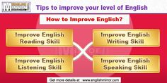 Welcome to English Mirror, a free website to learn English Language. Here you finds tips to learn English speaking, reading, writing, listening, etiquettes, manners & social niceties, grammar, common mistakes, phobias and fears, SMS English words, vocabulary and more. English Reading Skills, English Learning Course, Learn English Speaking, Learn English For Free, Improve Your English, English Words, English Language, Languages Online, Learning Courses